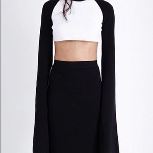 Fenty Puma Crop Top with Extreme Long Sleeves